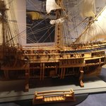 Cutaway of Blackbeard's ship Queen Anne's Revenge.