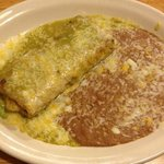 chile verde chimichanga I had them hold the sour cream and rice