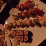 Salmon Roll, Mango Salmon Special Roll , and Rainbow Roll