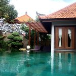 villa view and pool