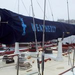 "U.S. 12-Meter yacht, the 1962 America's Cup champion, ""Weatherly""."