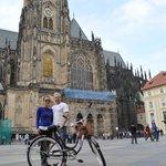 Prague Castle on bike