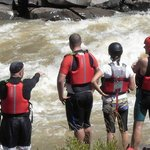 Scouting Wave House Rapid, Tugela River, South Africa