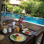 fantastic breakfast by the pool