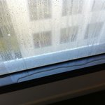 another picture of condensation pooling on the window