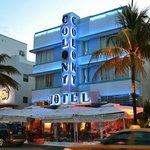 Вид на отель и ресторанчик с Ocean drive