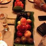 Frutas, cortesia del Restaurante