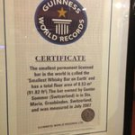 Certificate from Guinness
