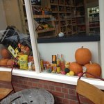 Pumpkins in the window!
