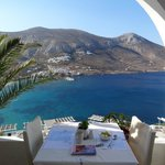 View breakfast / restaurant terrace