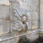 One of the fountain spouts