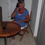 Wijntje op het terras