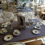 cafe set up for tea party