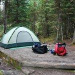 My campsite at Lake O'Hara