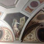 A frescoed ceiling in Casa Giorgio Vasari