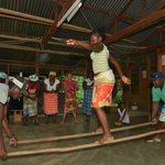 Dancing the Alesingo with the Saramaccan locals at Awarradam