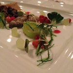 Fantastic dish with beef and Colville bay oysters