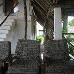 top floor patio seating area