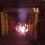 Fire in the bar/dining area