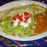 house special, chicken burrito