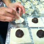 the chocolate pot stickers