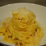 Hand made tagliatelle with toscano ragu from scratch