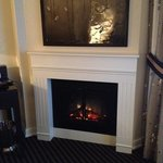 Fireplace in Grand Lux room