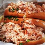 Yummah!  LOBSTER ROLL  yeehaw!