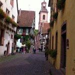 charming street in colmar