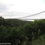 Clifton suspension bridge from the road outside the hotel