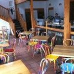Colorful Seating in Twisted Sista's