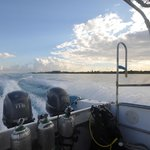 South bound for morning dive 1