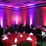 Mood lighting at our Convention Center