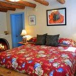Comanche suite's bedroom at Pueblo Bonito b&b inn