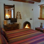 Santa Clara room provides traditional historic New Mexico enchantment for Santa Fe travelers!