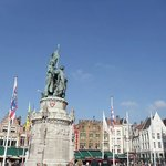 One of Bruges' town squares.