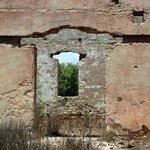 close up of ruins