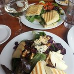 Wonderful salads, soups and wines