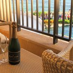 Champagne on the balcony