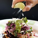 Lime over Fish Tostada