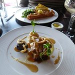 Mains: pork belly and pollock