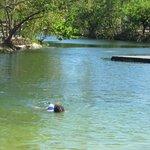 kids snorkeling the lagoon