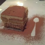 Tiramisu, the spoon design is a special touch.