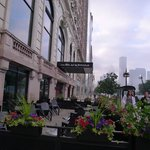 View of the outdoors dining area on Michigan Avenue