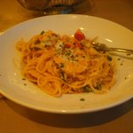 Linguini with seafood
