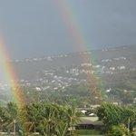 One of many rainbows we saw from our balcony