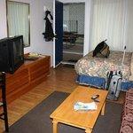bed-, living-, diningroom, kitchenette