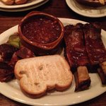 Pork Burnt Ends, Beef Ribs, and Baked Beans