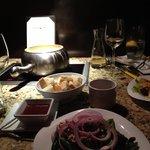Cheese Fondue & Salad