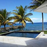 View from one of the villas. Private pool.